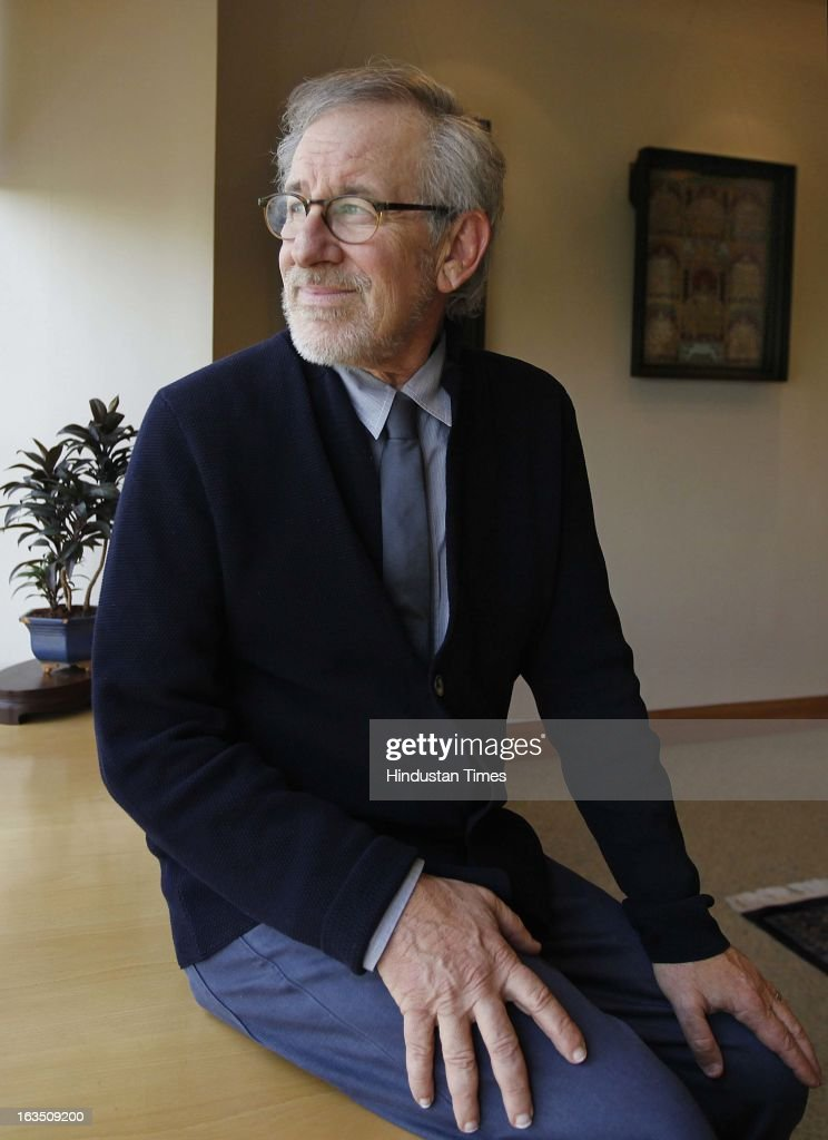 Oscar-winning and Hollywood director <a gi-track='captionPersonalityLinkClicked' href=/galleries/search?phrase=Steven+Spielberg&family=editorial&specificpeople=202022 ng-click='$event.stopPropagation()'>Steven Spielberg</a> at Reliance Center Ballard Estate on March 11, 2013 in Mumbai, India. Spielberg who is said to be visiting the country to celebrate the success of his Oscar-winning film Lincoln.