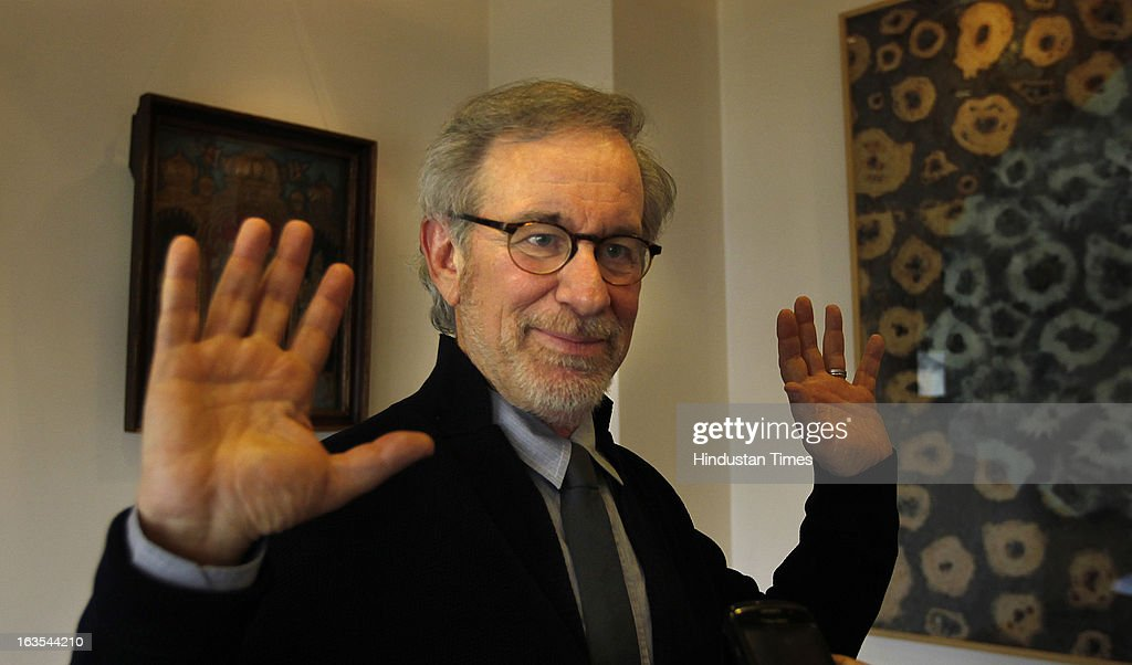 Oscar-winning and Hollywood director Steven Spielberg at Reliance Center Ballard Estate on March 11, 2013 in Mumbai, India. Spielberg who is said to be visiting the country to celebrate the success of his Oscar-winning film Lincoln.