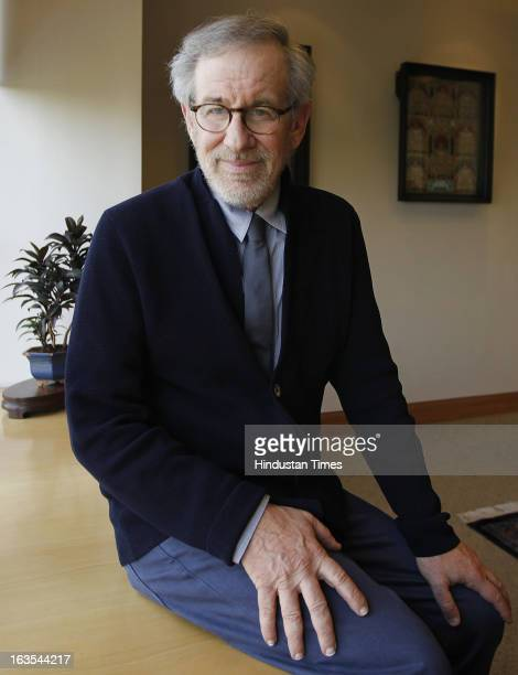 Oscarwinning and Hollywood director Steven Spielberg at Reliance Center Ballard Estate on March 11 2013 in Mumbai India Spielberg who is said to be...