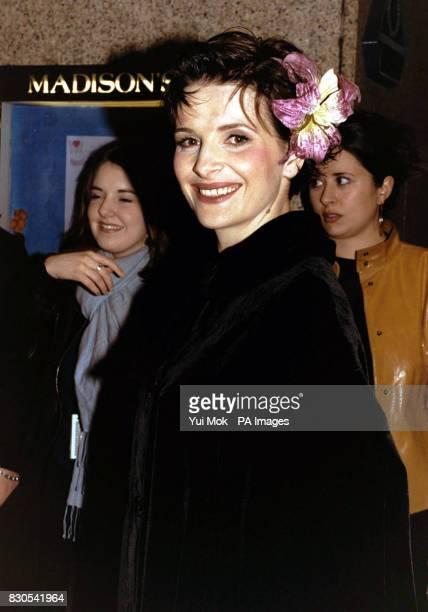 Oscarwinning French actress Juliette Binoche at a prescreening reception for the UK premiere of the film Chocolat in which she stars at the...
