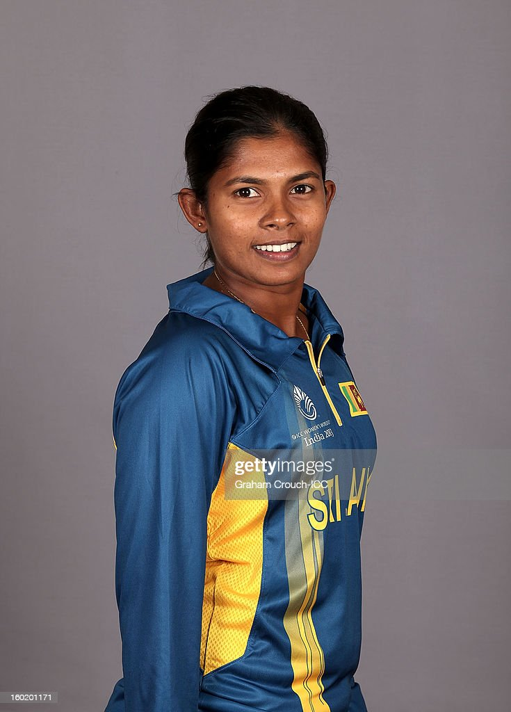 Oshadhi Ranasinghe of Sri Lanka poses at a portrait session ahead of the ICC Womens World Cup 2013 at the Taj Mahal Palace Hotel on January 27, 2013 in Mumbai,India.