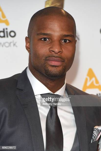 Osi Umenyiora attends the Royal Television Society Programme Awards on March 21 2017 in London United Kingdom