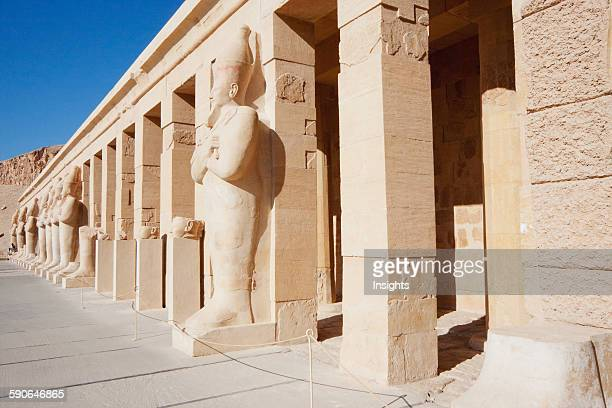 Osiride Statues In The Punt Colonnade Of The Hatshepsut Temple In Thebes Qina Egypt