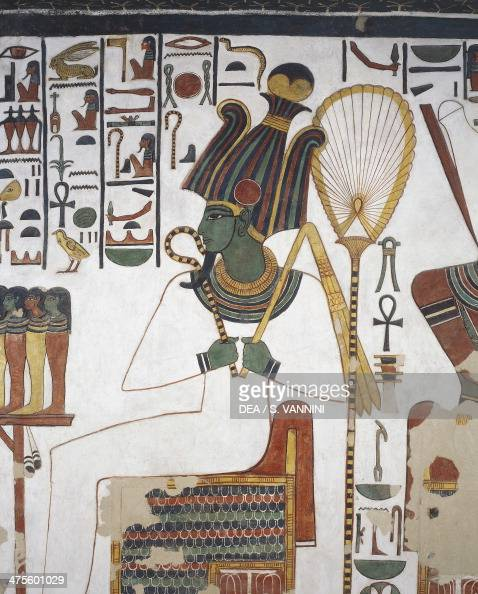 Osiris fresco east wall east side chamber Tomb of Nefertari Valley of the Queens Thebes Egyptian civilisation New Kingdom Dynasty XIX