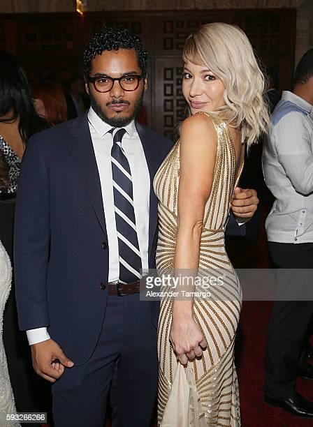 Osiris Pichardo and Katherine Castro are seen at the IRIS Dominicana Movie Awards at the Teatro Nacional on August 21 2016 in Santo Domingo Dominican...