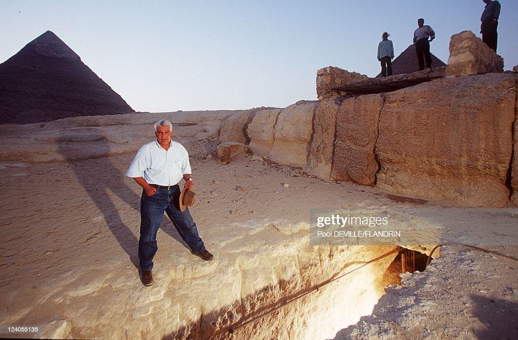 Osiris's Grave in Giza Egypt in November 1999