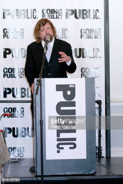 Oskar Eustis attends THE PUBLIC THEATRE Kicks Off Building Renovations and Launches CAPITAL CAMPAIGN With CEREMONIAL GROUNDBREAKING at The Public...