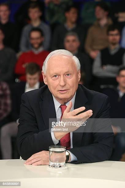 Oskar Lafontaine in der ZDFTalkshow 'Maybrit_Illner' am in BerlinThema der Sendung Athen gegen alle Scheitert der Euro