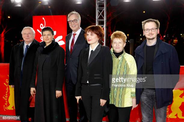 Oskar Lafontaine Sahra Wagenknecht Dietmar Bartsch Katja Kipping Petra Pau and guest attend the 'The Young Karl Marx' premiere during the 67th...