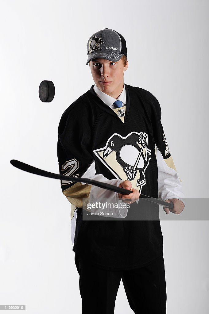 Oskar Sundqvist, 81st overall pick by the Pittsburgh Penguins, Entry Draft at Consol Energy Center on June 23, 2012 in Pittsburgh, Pennsylvania.