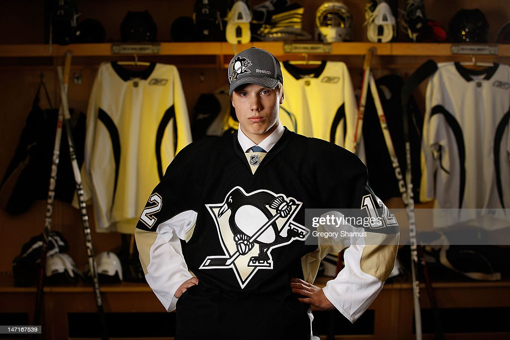 Oskar Sundqvist, 81st overall pick by the Pittsburgh Penguins, poses for a portrait during the 2012 NHL Entry Draft at Consol Energy Center on June 23, 2012 in Pittsburgh, Pennsylvania.