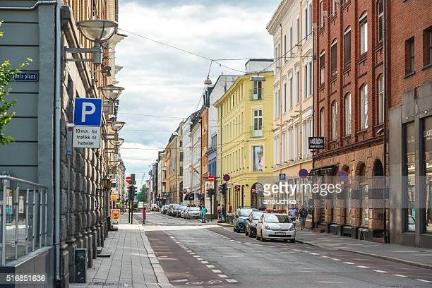 Oslo street in city center, Norway