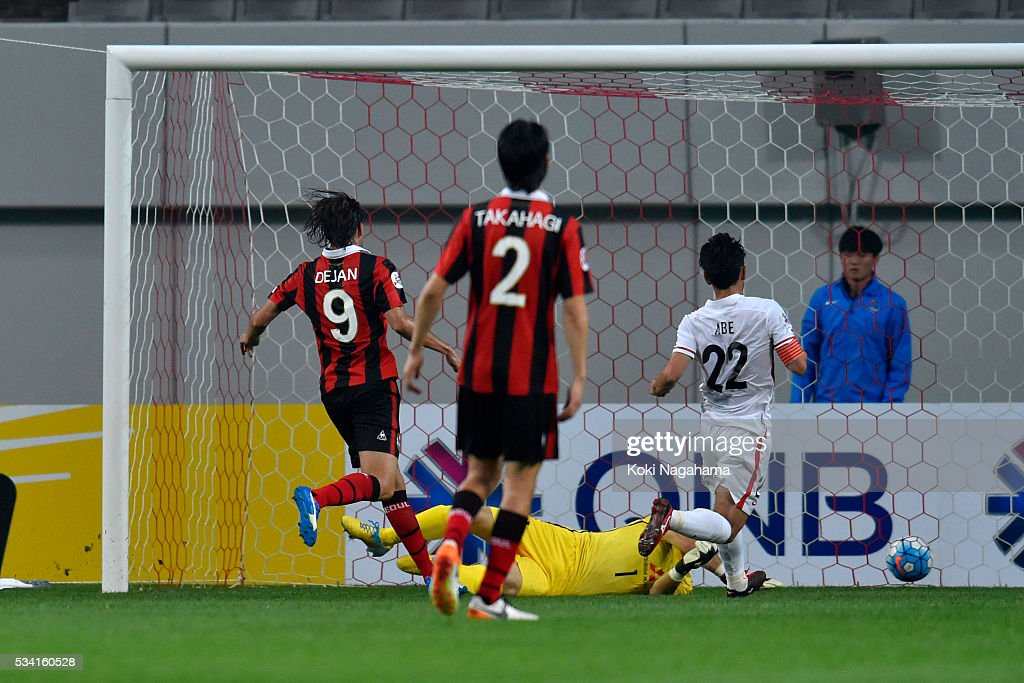 Osmar Barba Ibanez #5 Scores a first goal during the AFC Champions League Round Of 16 match between FC Seoul and Urawa Red Diamonds at Seoul World Cup Stadium on May 25, 2016 in Seoul, South Korea.