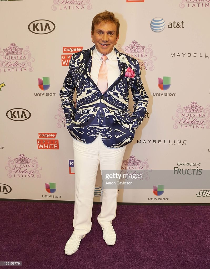 Osmel Sousa attends Univisions Nuestra Belleza Latina Finalists Revealed at Univision Headquarters on March 31, 2013 in Miami, Florida.