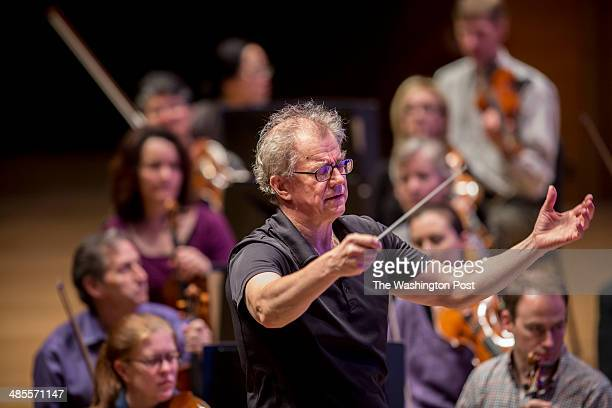 Osmo Vanska rehearses with the Minnesota Orchestra at Orchestra Hall in Minneapolis Minn on April 14 2014 Vanska resigned as music director of the...