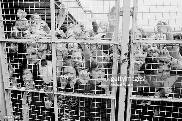 Osmonds fans await the group's arrival at London Airport 29th October 1972