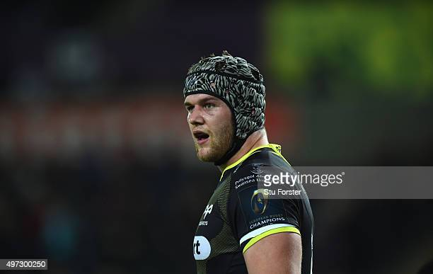 Ospreys player Dan Lydiate in action during the European Rugby Champions Cup Pool 2 round 1 match between Ospreys and Exeter Chiefs at Liberty...