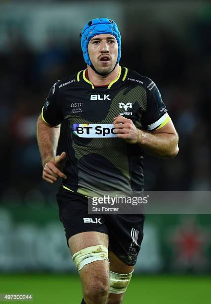 Ospreys player Justin Tipuric in action during the European Rugby Champions Cup Pool 2 round 1 match between Ospreys and Exeter Chiefs at Liberty...
