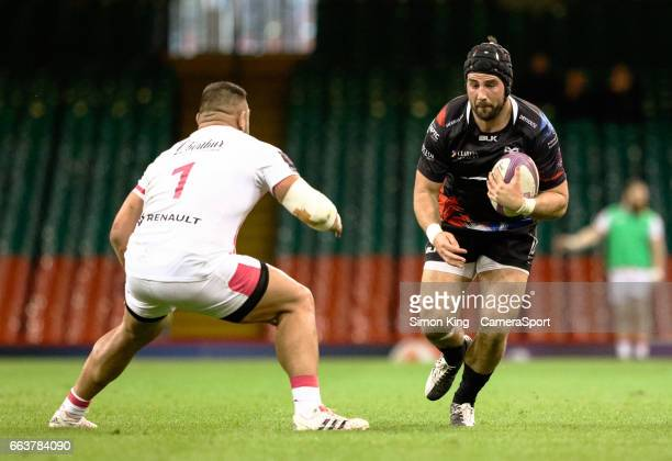 Ospreys' Scott Baldwin during the European Rugby Challenge Cup Quarter Final match between Ospreys and Stade Francais Paris at the principality...