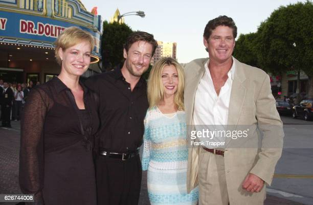 Ossa with husband John Allen Nelson and Pamela with husband David Hasselhoff at the 'Legally Blonde' premiere