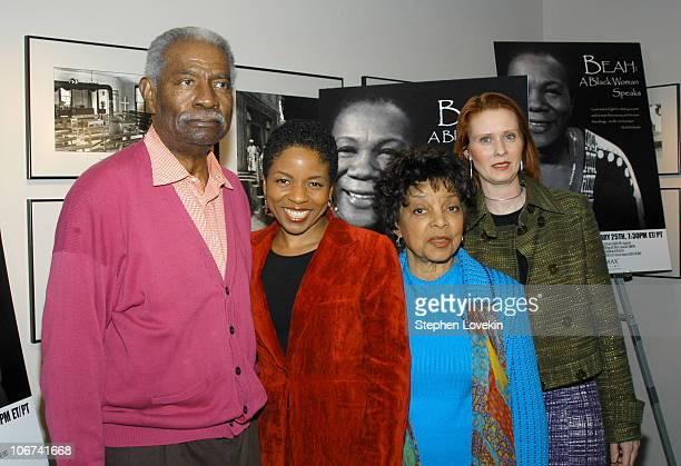 Ossie Davis Lisa Gay Hamilton director Ruby Dee and Cynthia Nixon