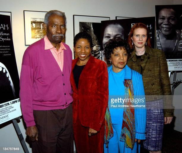 Ossie Davis LisaGay Hamilton Director Ruby Dee and Cynthia Nixon