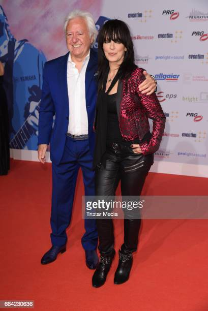 Ossy Hoppe and German singer Nena attend the LEA PRG Live Entertainment Award 2017 at Festhalle Frankfurt on April 3 2017 in Frankfurt am Main Germany