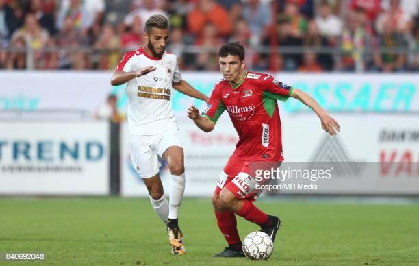 20170827 Ostend Belgium / Kv Oostende v Antwerp Fc / 'nReda JAADI Aleksandar BJELICA'nFootball Jupiler Pro League 2017 2018 Matchday 5 / 'nPicture by...