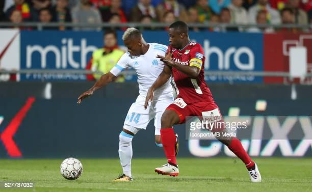 Kv Oostende v Olympique de Marseille / 'nClinton NJIE Sebastien SIANI'nFootball Uefa Europa League 2017 2018 Third Qualifying round second leg /...