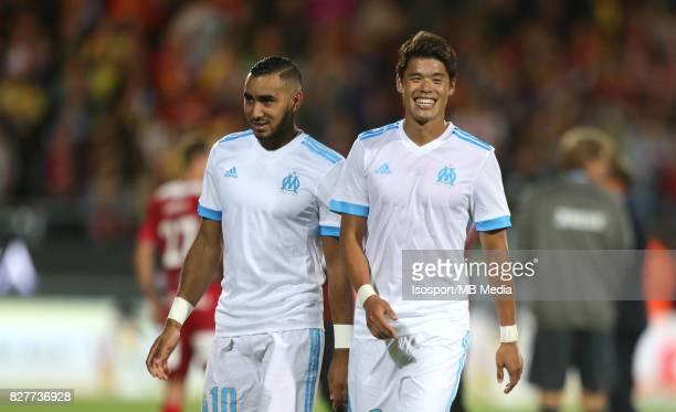Kv Oostende v Olympique de Marseille / 'nDimitri PAYET Hiroki SAKAI Celebration'nFootball Uefa Europa League 2017 2018 Third Qualifying round second...