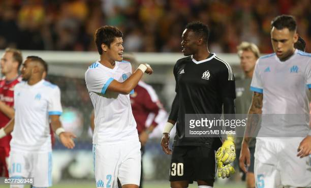 Kv Oostende v Olympique de Marseille / 'nHiroki SAKAI Steve MANDANDA'nFootball Uefa Europa League 2017 2018 Third Qualifying round second leg /...