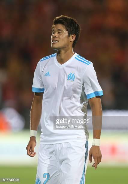 Kv Oostende v Olympique de Marseille / 'nHiroki SAKAI'nFootball Uefa Europa League 2017 2018 Third Qualifying round second leg / 'nPicture Vincent...