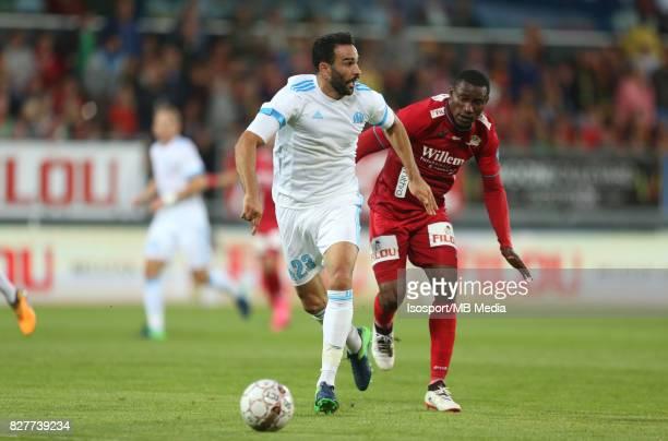 Kv Oostende v Olympique de Marseille / 'nJoseph AKPALA Adil RAMI'nFootball Uefa Europa League 2017 2018 Third Qualifying round second leg / 'nPicture...