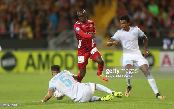 Kv Oostende v Olympique de Marseille / 'nLucas OCAMPOS Knowledge MUSONA'nFootball Uefa Europa League 2017 2018 Third Qualifying round second leg /...