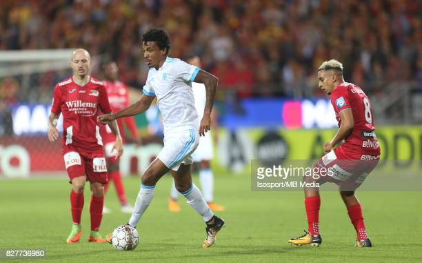 Kv Oostende v Olympique de Marseille / 'nLUIZ GUSTAVO Yassine EL GHANASSY'nFootball Uefa Europa League 2017 2018 Third Qualifying round second leg /...