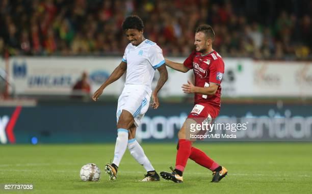 Kv Oostende v Olympique de Marseille / 'nLUIZ GUSTAVO Antonio MILIC'nFootball Uefa Europa League 2017 2018 Third Qualifying round second leg /...