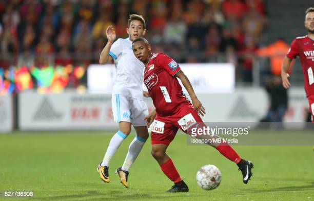 Kv Oostende v Olympique de Marseille / 'nMaxime LOPEZ Andile JALI'nFootball Uefa Europa League 2017 2018 Third Qualifying round second leg /...