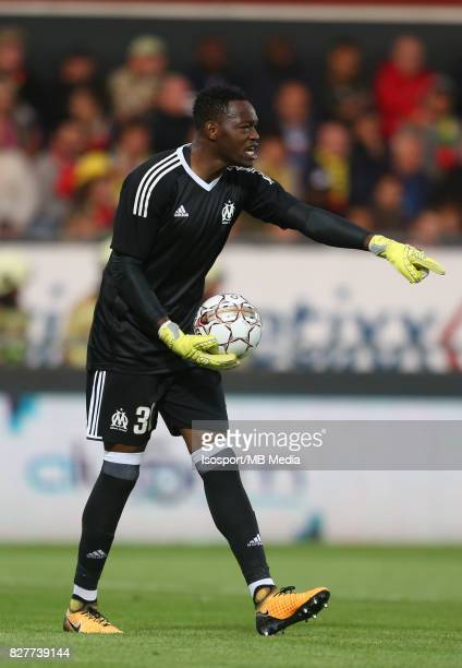 Kv Oostende v Olympique de Marseille / 'nSteve MANDANDA'nFootball Uefa Europa League 2017 2018 Third Qualifying round second leg / 'nPicture Vincent...