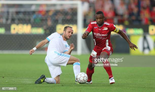 Kv Oostende v Olympique de Marseille / 'nValere GERMAIN Sebastien SIANI'nFootball Uefa Europa League 2017 2018 Third Qualifying round second leg /...