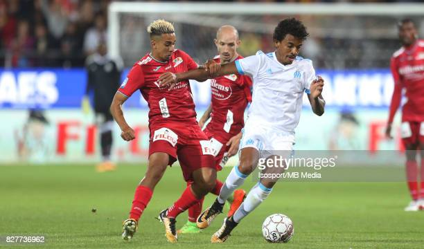 Kv Oostende v Olympique de Marseille / 'nYassine EL GHANASSY LUIZ GUSTAVO'nFootball Uefa Europa League 2017 2018 Third Qualifying round second leg /...