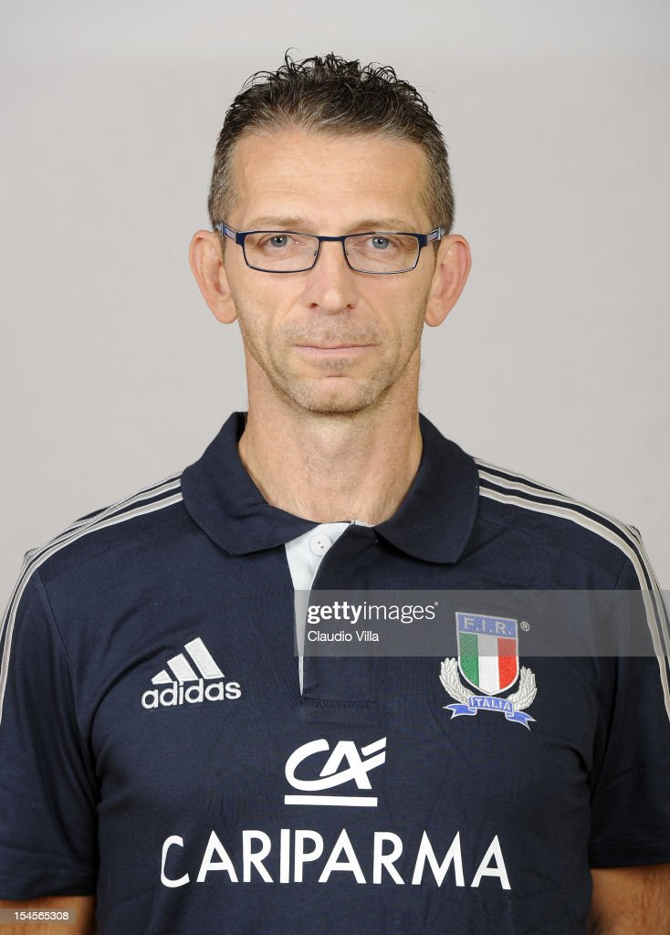 Osteopath Sante Lugarini poses during a Italy Rugby Union player portrait session on October 22, 2012 in Rome, Italy.