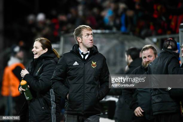 Ostersunds' coach from England Graham Potter attends the UEFA Europa League group F fotball match Ostersund v Athletic Bilbao on October 18 2017 /...