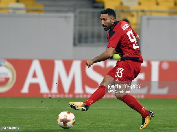 Ostersund's forward Saman Ghoddos shoots to score during the UEFA Europa League Group J football match between Zorya Lugansk and Ostersunds FK in...