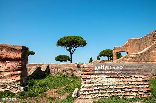 Ostia antica archeaological site