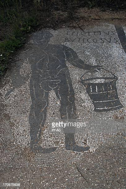 Ostia Antica Baths of Buticosus 1st 2nd centuries AD Caldarium Mosaic depicting Epitectus Buticosus Near Rome