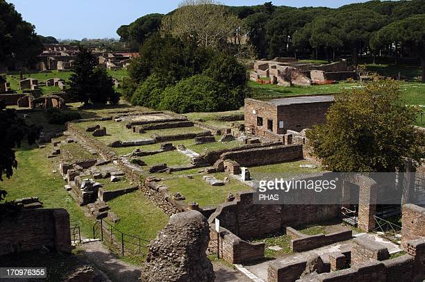 Ostia Antica House of Apuleius Pompeian style Dated under Trajan Overview Italy