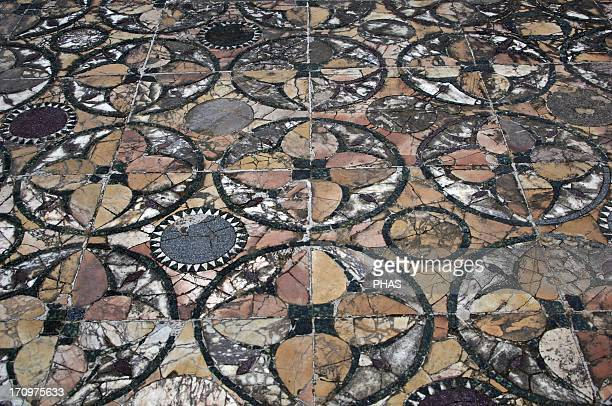 Ostia Antica House of Cupid and Psyche 4th century AD Opus sectile floor Detail Italy