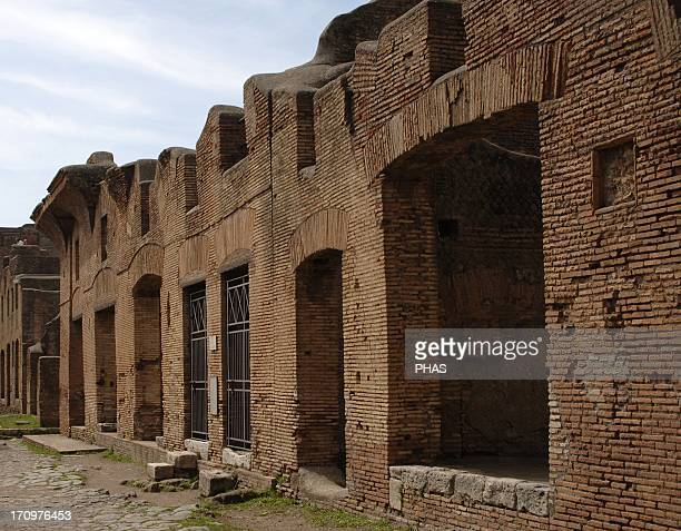 Ostia Antica House of Diana seen from the southeast from Via of Diana Italy
