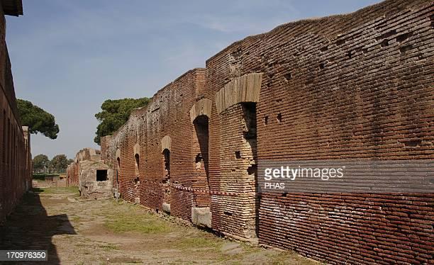 Ostia Antica Road of the Fountain Italy