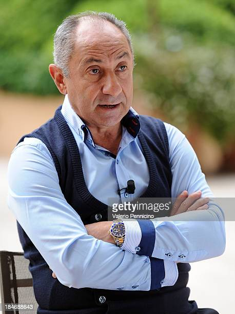 Osvaldo Ardiles is interviewed at MonteCarlo Bay prior to the 2013 Golden Foot Award on October 15 2013 in MonteCarlo Monaco